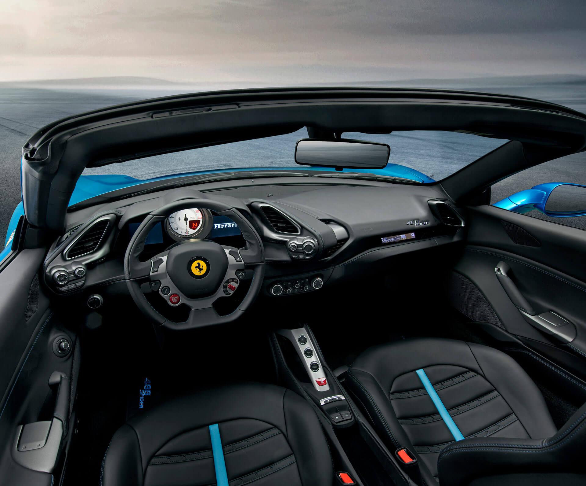 Ferrari 488 Spider Innenansicht
