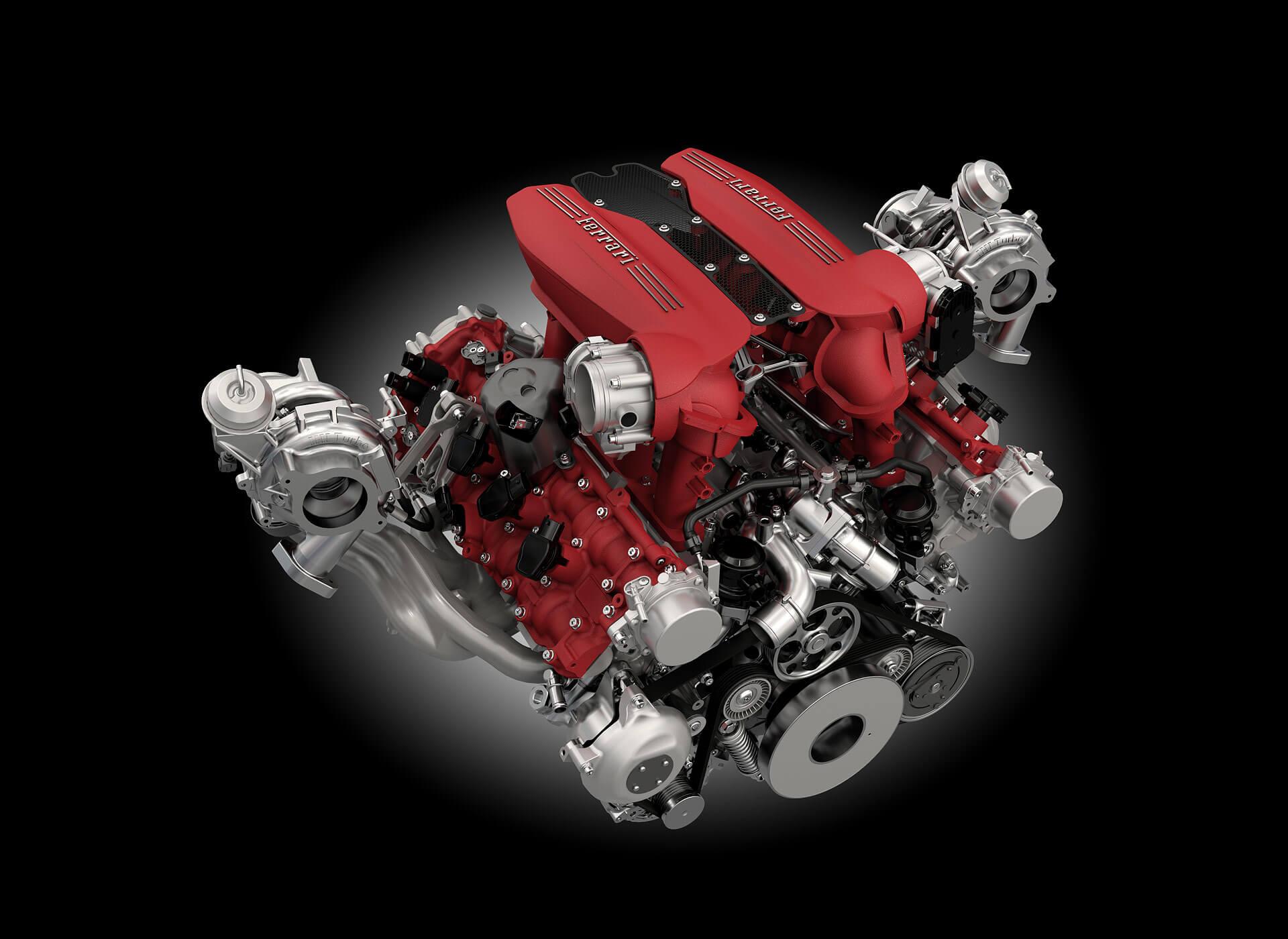 Ferrari 488 Spider Motor