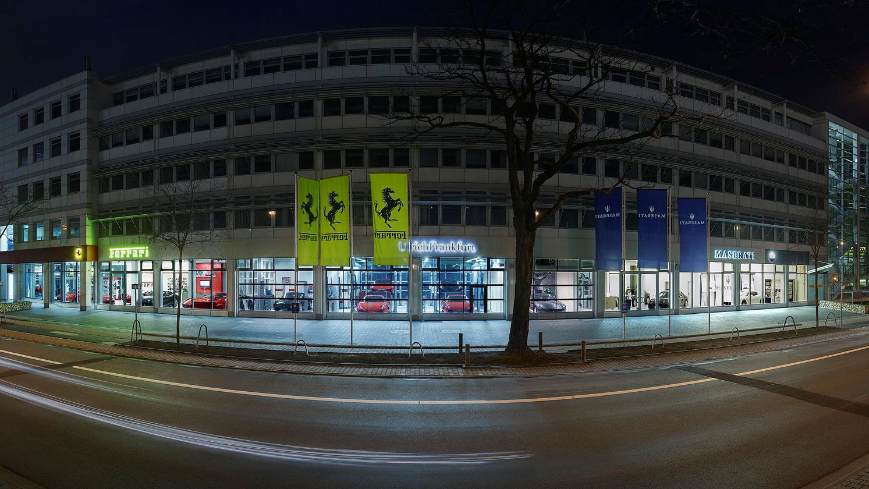 Ferrari Ulrich Autohaus Frankfurt Gebäude